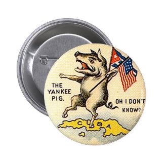 Cerdo del yanqui - botón pin redondo de 2 pulgadas
