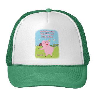 Cerdo día 1 de marzo nacional gorras