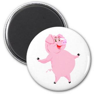 Cerdo día 1 de marzo nacional imán redondo 5 cm
