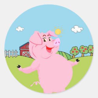 Cerdo día 1 de marzo nacional pegatina redonda