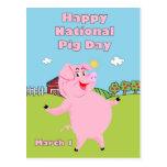 Cerdo día 1 de marzo nacional postales