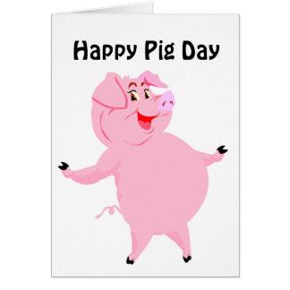 Cerdo día 1 de marzo nacional tarjeta de felicitación