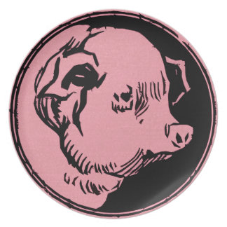 Cerdo dirigido plato