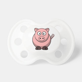 Cerdo divertido lindo chupete