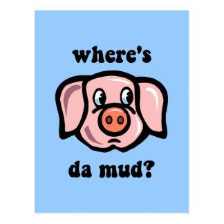 Cerdo divertido postales