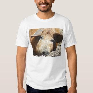 """""""Cerdo en camiseta del fango"""" Playeras"""