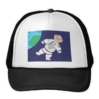Cerdo en espacio gorros