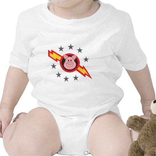 cerdo en espacio trajes de bebé