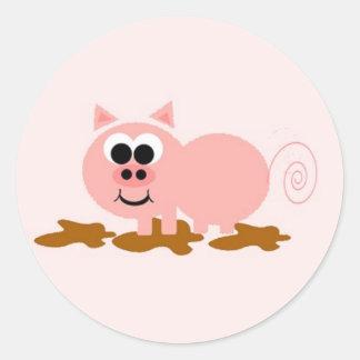 Cerdo en pegatina del fango