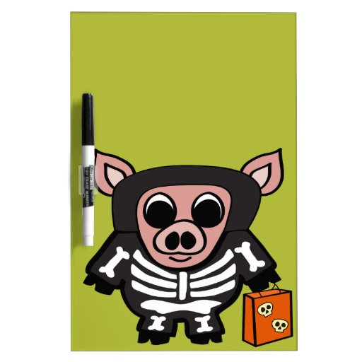 Cerdo en truco o la invitación esquelético del pizarras blancas de calidad