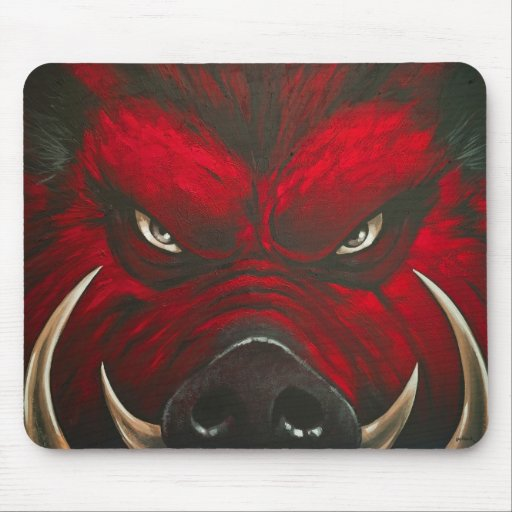 Cerdo enojado mouse pad