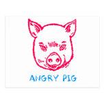 cerdo enojado postales