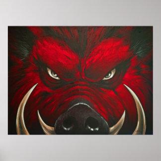 Cerdo enojado póster