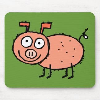 Cerdo enrrollado Mousepad de la granja Tapetes De Raton