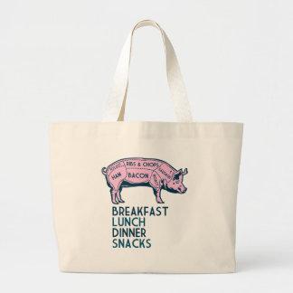 ¡Cerdo, es todo bueno! Bolsa Tela Grande