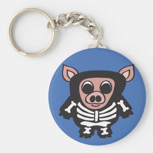 Cerdo - esqueleto - llavero
