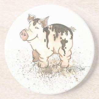 Cerdo fangoso posavasos diseño