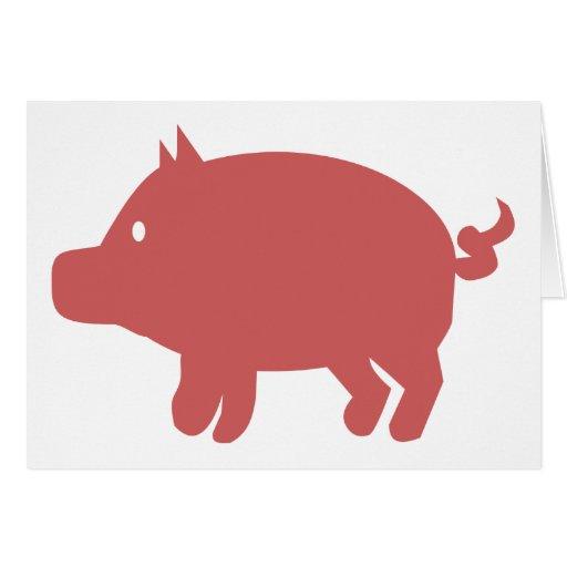 Cerdo Felicitación