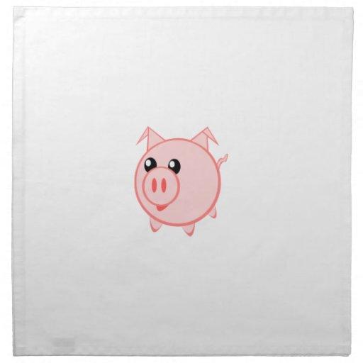 Cerdo feliz del dibujo animado servilletas de papel