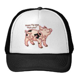 Cerdo feliz gorra