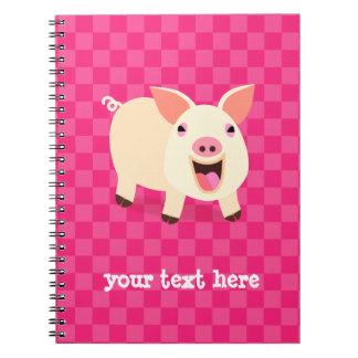 Cerdo feliz libros de apuntes