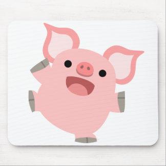 Cerdo feliz Mousepad del dibujo animado Tapetes De Raton