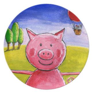 Cerdo feliz platos para fiestas