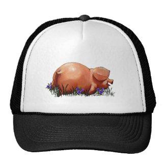 Cerdo feliz, rechoncho, sonriente: Arte del pastel Gorro De Camionero