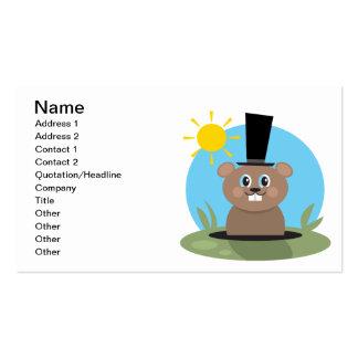 Cerdo feliz tarjetas de visita