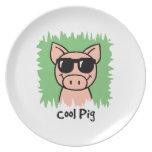 Cerdo fresco plato de comida