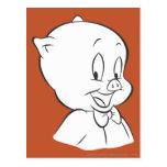 Cerdo gordinflón 4 expresivos postal