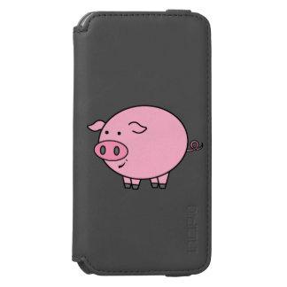 Cerdo gordo funda billetera para iPhone 6 watson