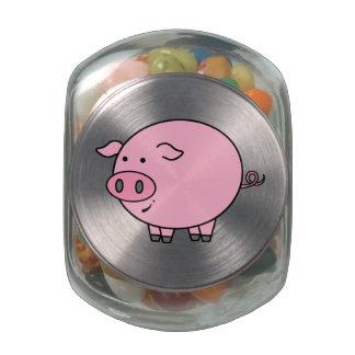 Cerdo gordo jarras de cristal jelly bely