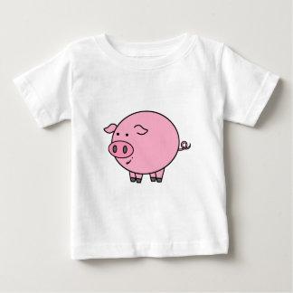 Cerdo gordo playera de bebé