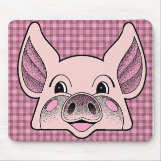 Cerdo grande tapetes de ratón