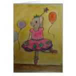Cerdo Greetingcard del baile Tarjeton