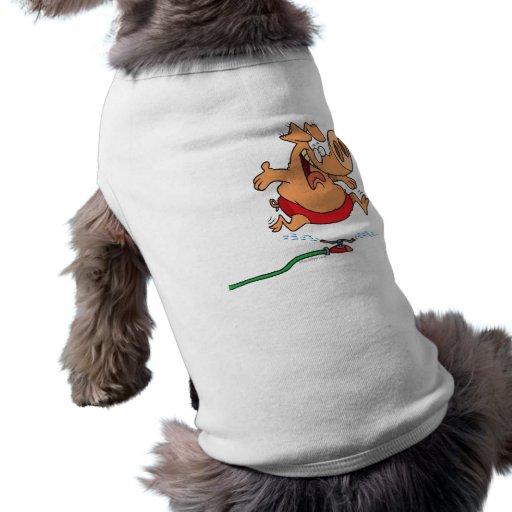 cerdo guarro de la regadera linda del verano camisas de perritos
