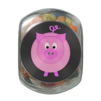Cerdo guarro jarras de cristal jelly bely