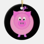 Cerdo guarro ornamentos de navidad