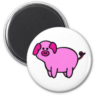 Cerdo guarro rosado imán para frigorífico