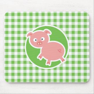 Cerdo; Guinga verde Tapete De Ratones