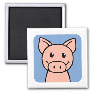 Cerdo Imán Cuadrado
