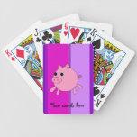 Cerdo lindo barajas de cartas