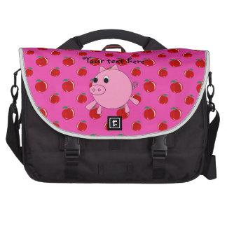 Cerdo lindo bolsas de portátil