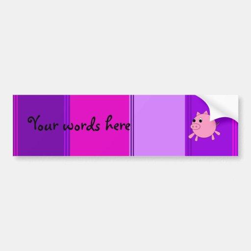 Cerdo lindo etiqueta de parachoque