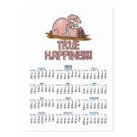 cerdo lindo de la felicidad verdadera en dibujo an plantilla de tarjeta de visita