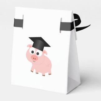 Cerdo lindo de la graduación cajas para regalos
