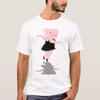 Cerdo lindo del baile del ballet playera