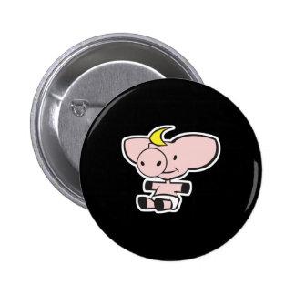 cerdo lindo del bebé en pañal pin redondo de 2 pulgadas