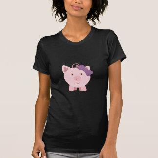 Cerdo lindo del chica t-shirt